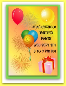 #Back2School Twitter Party ~ Wednesday September 4th