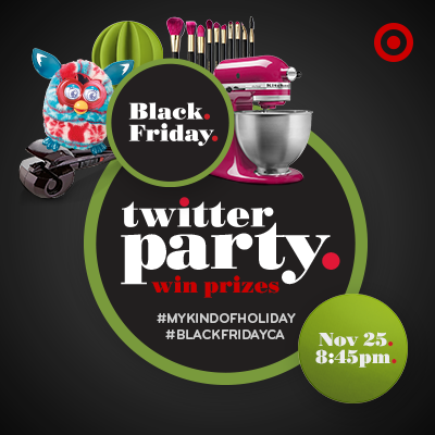 TARGET Canada Black Friday Twitter Party ~ November 25th ~ #BlackFridayCA