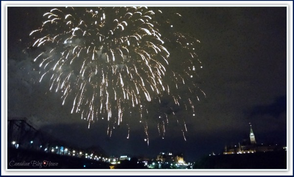 Canada Day Fireworks At Parliament Hill ~ #Ottawa #Gatineau ~ #WordlessWednesday