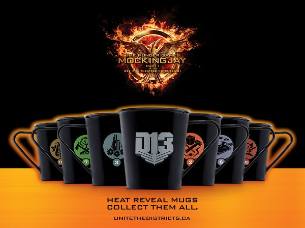 Petro Canada Hunger Games Mockingjay Heat Reveal Mugs