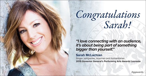 Sarah McLachlan Governor General's Performing Arts Awards