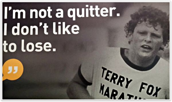 Quote And Photo Of Terry Fox