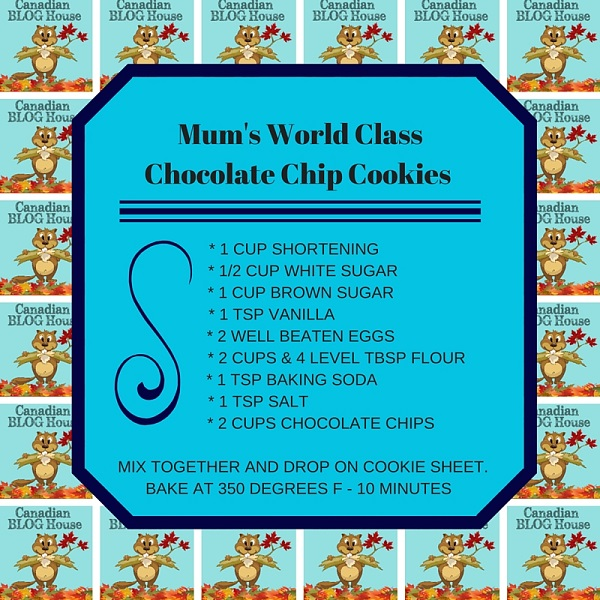 Mum's World Class Chocolate Chip Cookies Recipe