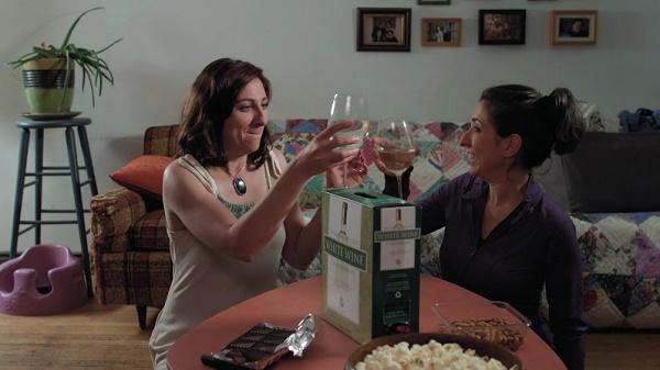 NBM wine glass clink