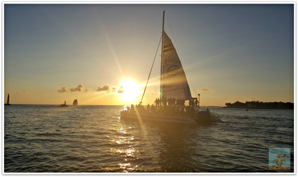 Sunset At Mallory Square Key West Florida