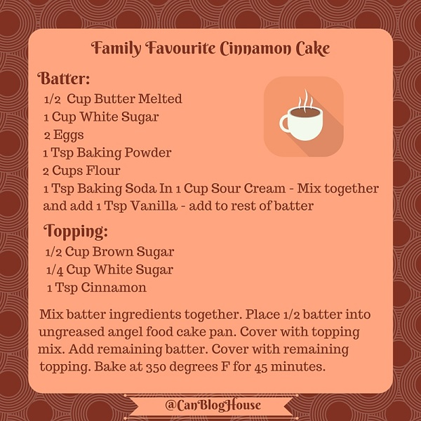 Family Favourite Cinnamon Cake