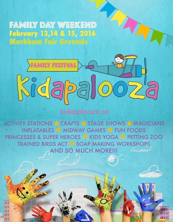 Family Fun For Everyone! WIN A Family Pass To Kidapalooza In Markham!