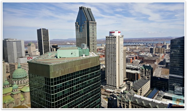 Montreal Skyline Facing St. Lawrence River