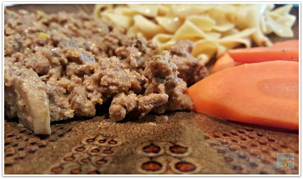 Healthy Meal Plan Hamburger Noodles Carrots