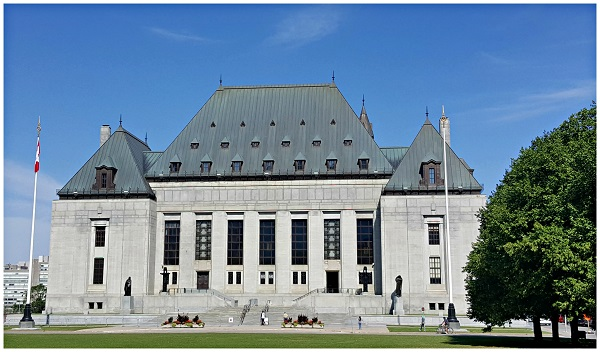 Look up to the Canadian Supreme Court Building
