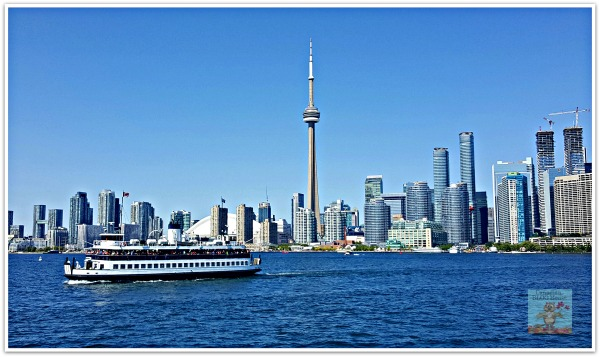 Toronto Skyline Toronto Islands Ferry