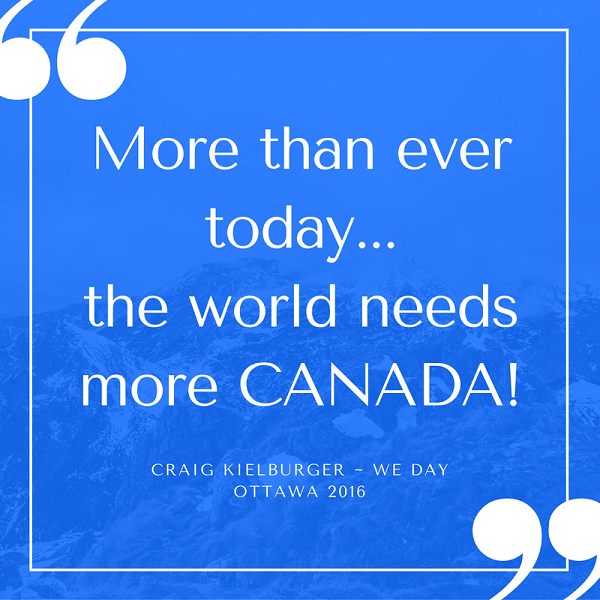 Inspirational quotes from WE Day World Needs More Canada