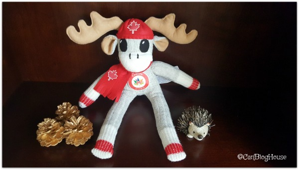 Monkeys and More Canada 150 Sock Moose