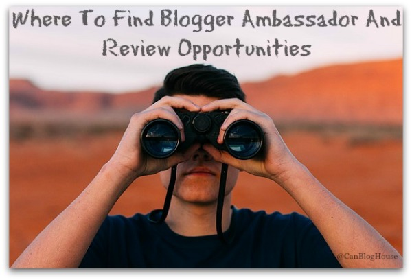 Blogger Ambassador Review Opportunities