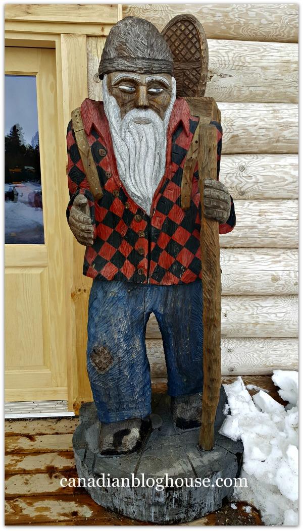 Lumber Jack Carving Parc Omega