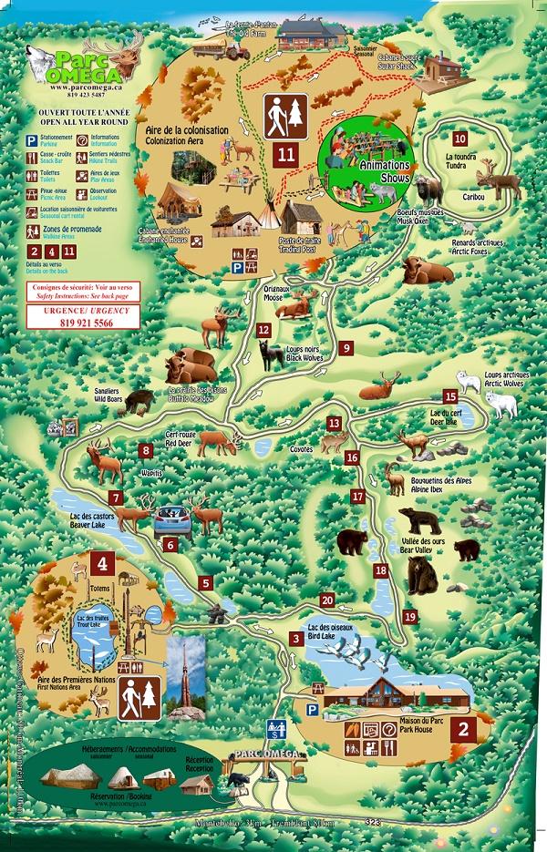 Map Parc Omega
