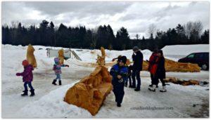 Michel Therrien Wood Sculptures in winter