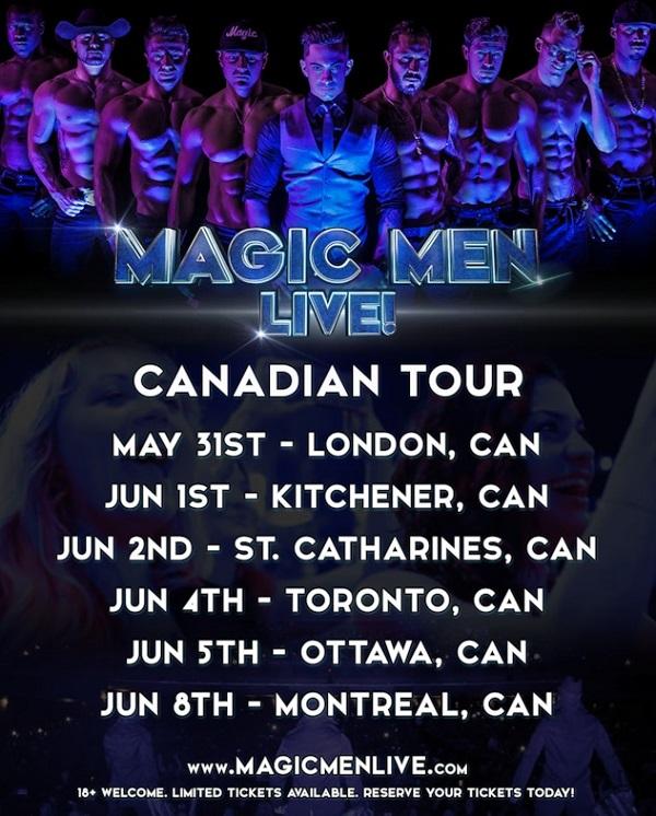 Magic Men Live Canada Tour