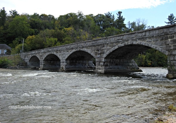 Ontario's Highlands Five Span Stone Bridge Pakenham Small Towns in Ontario
