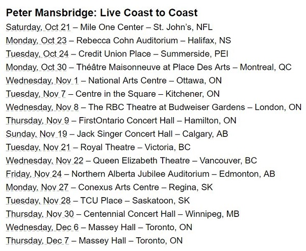 Peter Mansbridge Live Coast To Coast