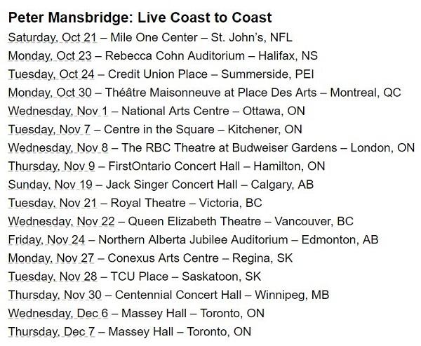 Peter Mansbridge Live Coast To Coast