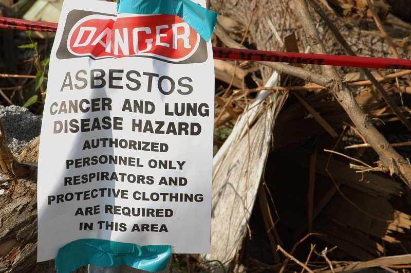 Asbestos Danger Sign Toxic Mineral