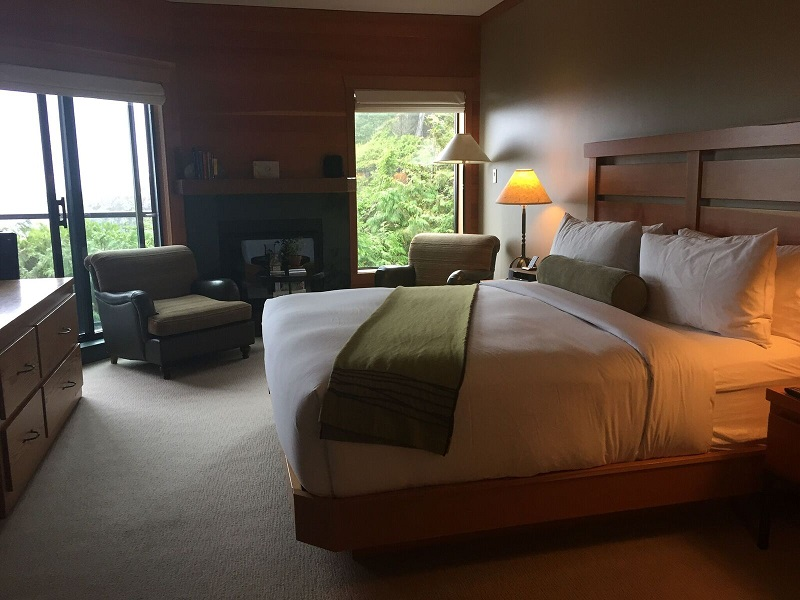 First view of my room at the Wickaninnish Inn Tofino experience