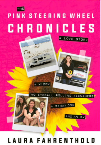 The Pink Steering Wheel Chronicles Book Cover Laura Fahrenthold