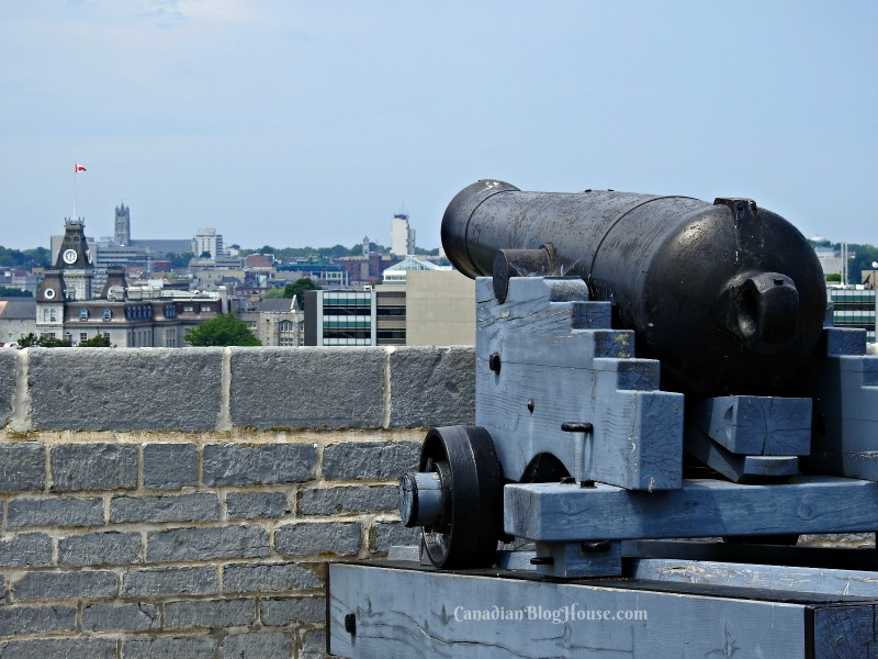 Cannon overlooking Kingston Harbour from Fort Henry in Historic Downtown Kingston