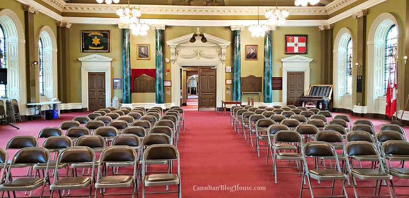 Grand reception room at Kingston City Hall in historic downtown Kingston