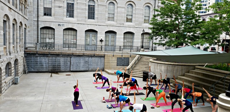 Yoga at City Hall in Historic Downtown Kingston