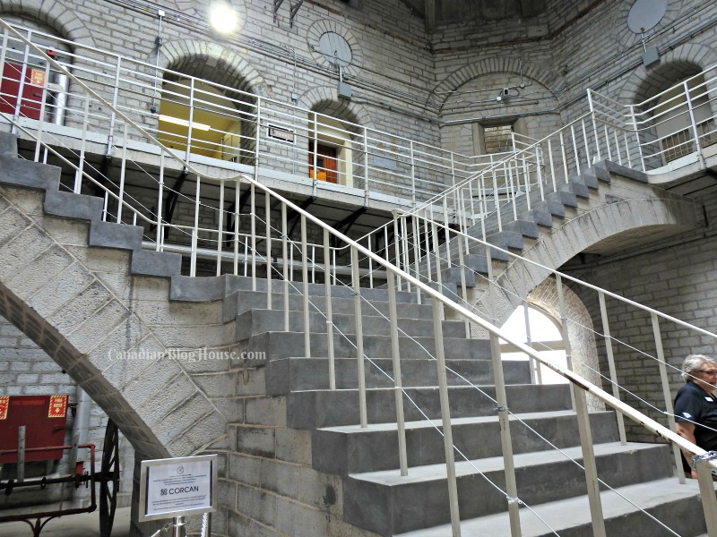 Limestone staircase Kingston Penitentiary in Historic Downtown Kingston