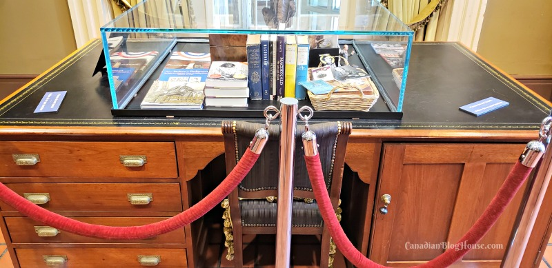 Sir John A Macdonald's personal desk in Historic Downtown Kingston