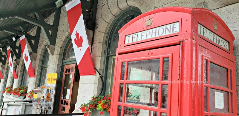 Telephone booth outside Kingston Visitor's Centre in Historic Downtown Kingston
