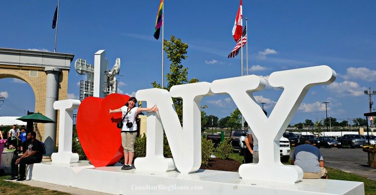 I Love New York sign at the Great New York State Fair
