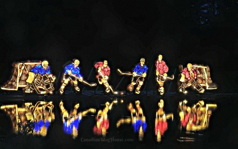 Pumpkinferno Hockey Players Handcrafted Pumpkins