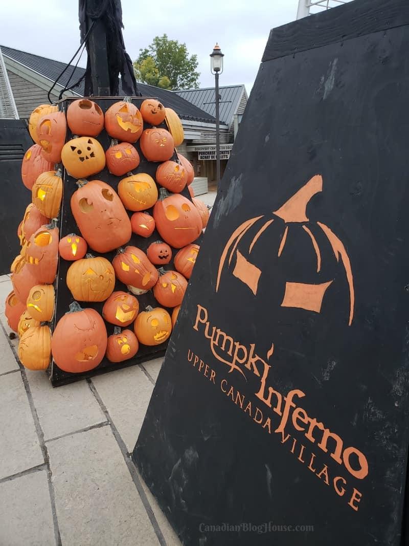 Pumpkinferno Handcrafted Pumpkins Sign