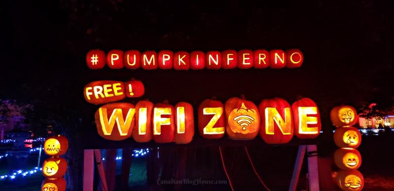 Pumpkinferno Handcrafted Pumpkins WiFi Zone