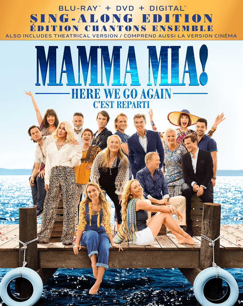 Mamma Mia! Here We Go Again Blu-Ray DVD