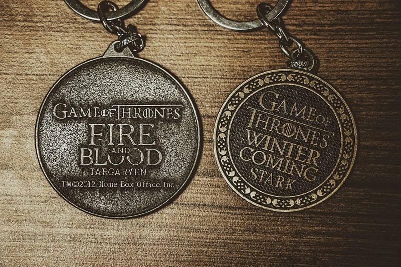 medals from the show Game Of Thrones
