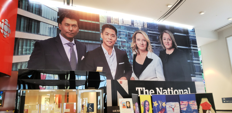 Image of News Anchors in CBC Building Toronto Canada's Downtown