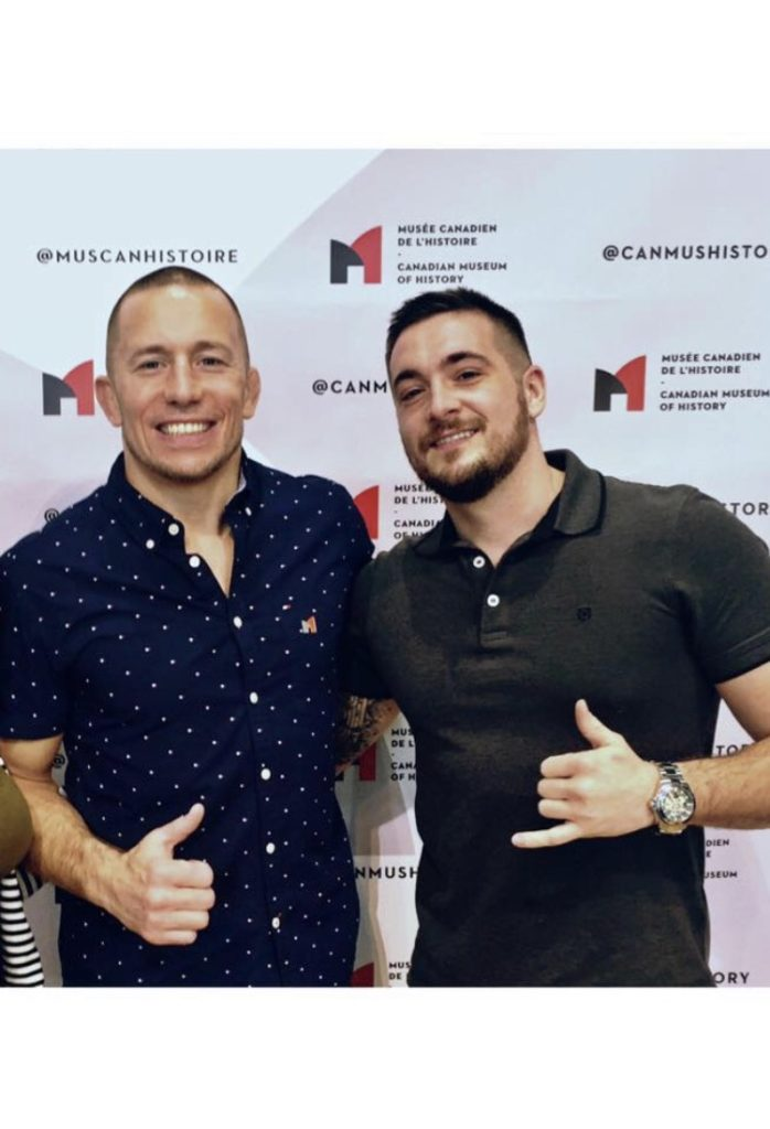 Alex Provencher with Mixed Martial Arts legend Georges St-Pierre