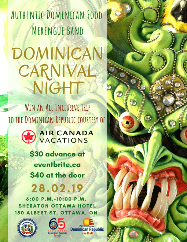 Dominican Carnival Night Promotional Sign