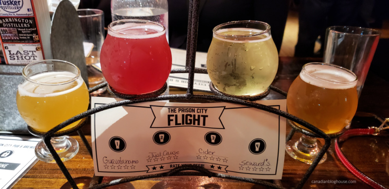 Tour Cayuga County Prison City Brewery Flight of beer