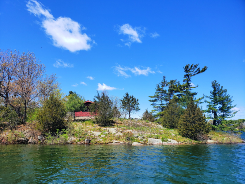 Parks Canada island in Thousand Islands National Park