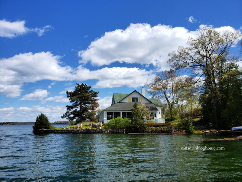 Beautiful house on an island on the St. Lawrence River