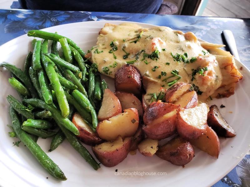 Dinner at Doc's Restaurant on Padre Island