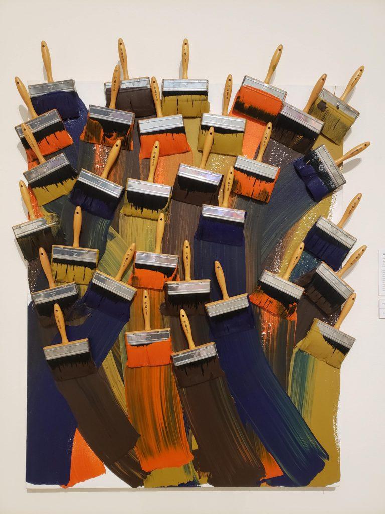 Corpus Christi Art Museum of South Texas paintbrush art installation