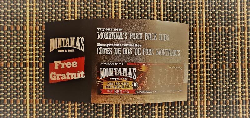 Montana's Retail Ribs Voucher